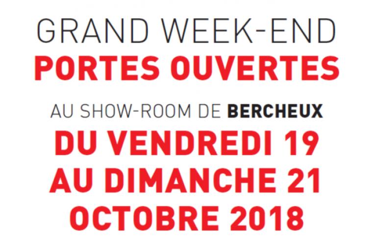 """Du vendredi au dimanche inclus """"Portes ouvertes"""" au showroom de Bercheux !!"""