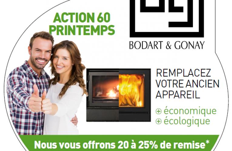 Promotion exceptionnelle 60 ans Bodart & Gonay. Nous vous offrons 20 à 25% de remise du 15/5 au 30/6/2017 inclus.
